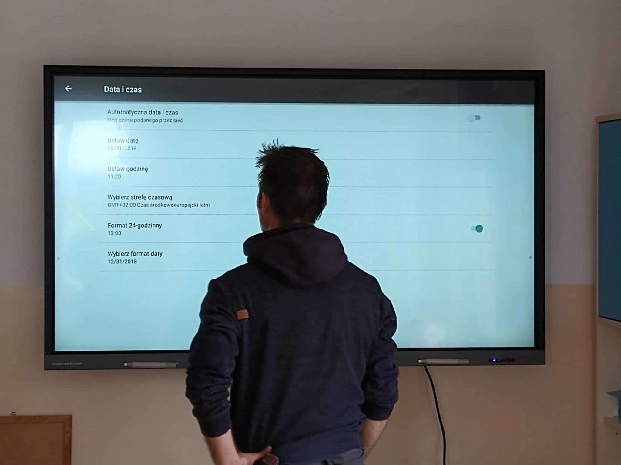 Wykorzystanie monitora interaktywnego